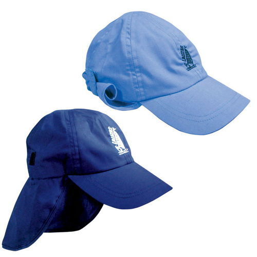 Sailing cap with protective neck e